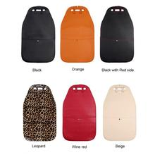 Car Seat Back Cover Protector Anti-kick Clean Back Protector Wear-proof Deformation Anti Stepped Dirty Mat For Children 6 Colors 1pc car safety seat back cover protector kids kick clean mat pad anti stepped dirty