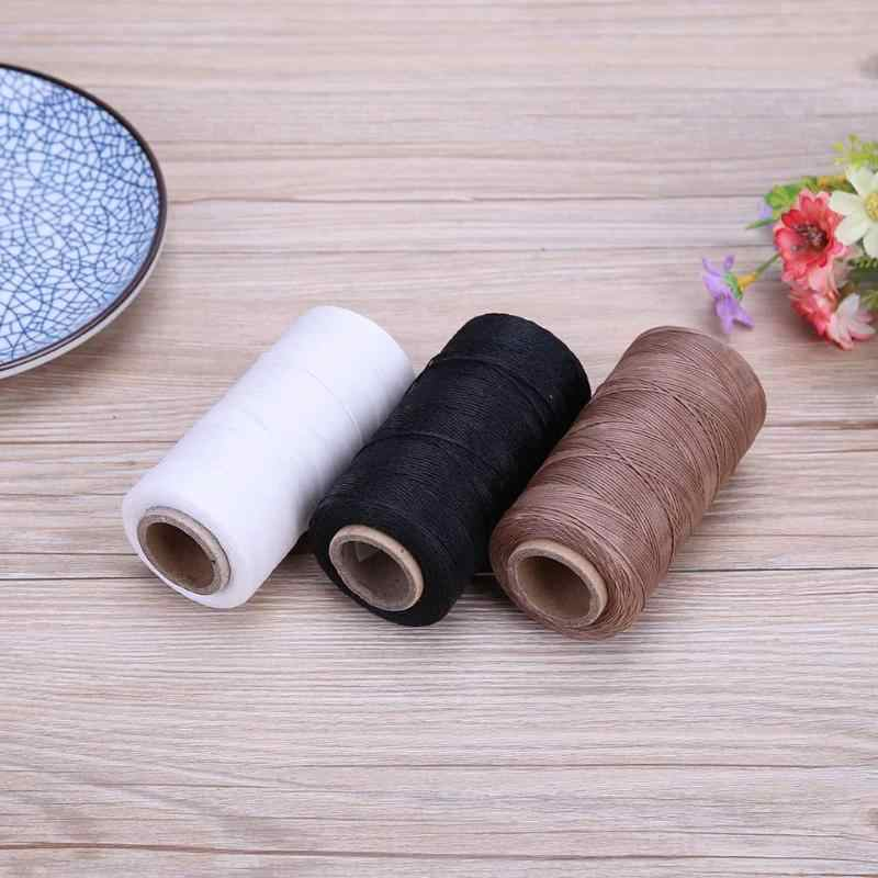 DIY Waxed Sewing Threads 150D/16 Flat Durable Strong Bounded Nylon Leather Sewing Thread for Craft Repair Shoes Sewing Tools
