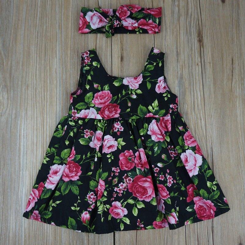 Платье для девочек Pudcoco, платье для маленьких девочек с коротким рукавом и цветочным принтом, платье для вечеринок и торжеств