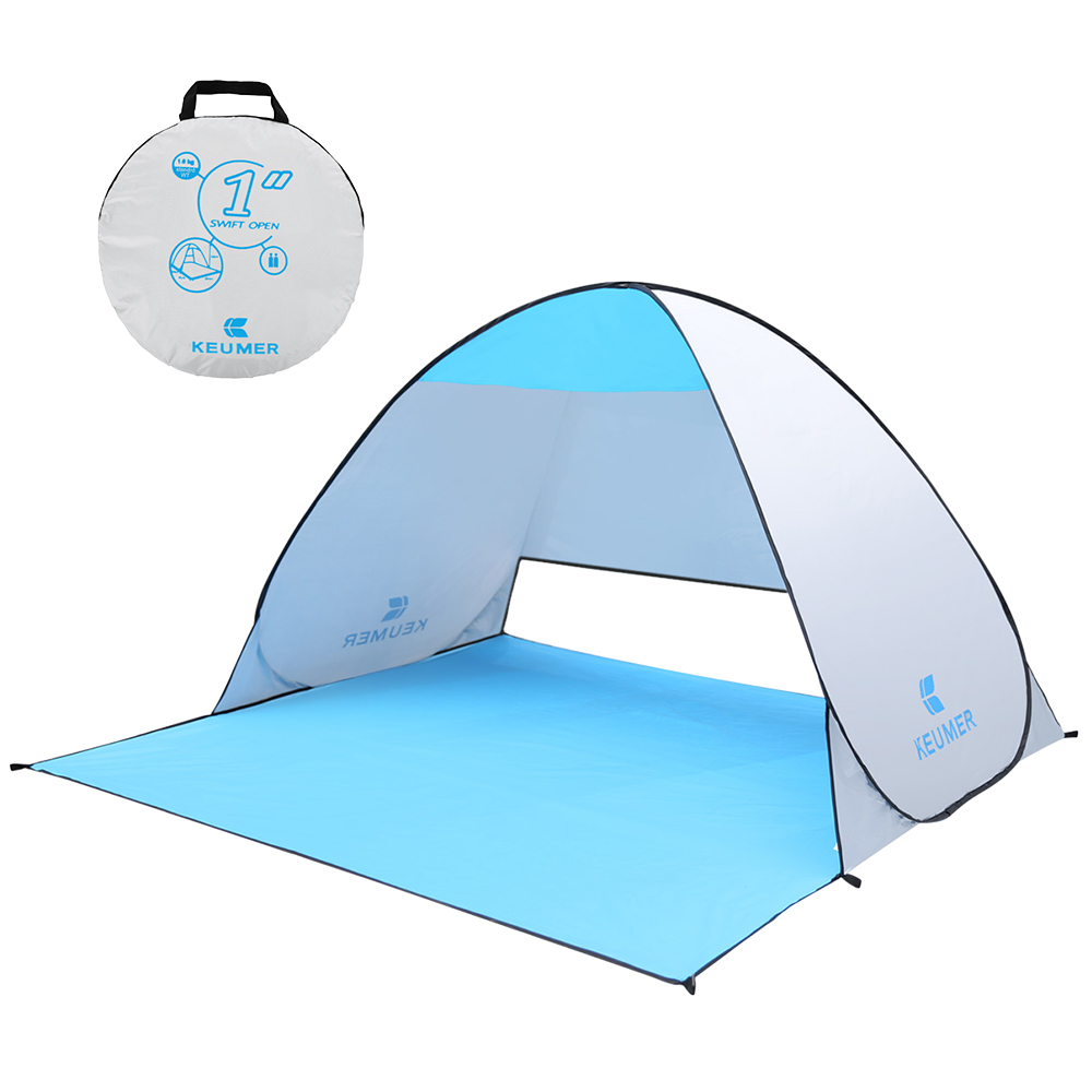 KEUMER 1-2 Person Outdoor Beach Tent Pop-up Open Camping Fishing Tent Portable Waterproof UV-protective Tent Shelter