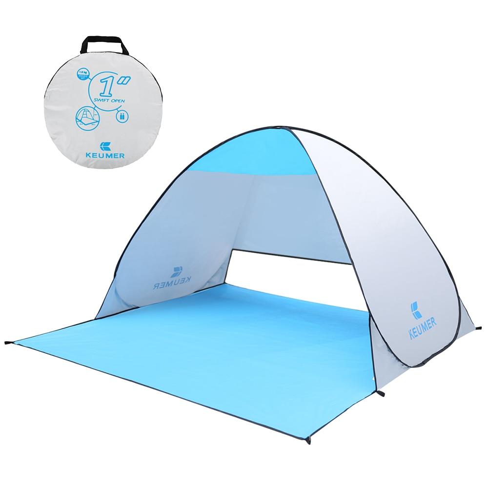 KEUMER 1-2 person Outdoor Strand Zelt Pop-up Öffnen Camping Angeln Zelt Tragbare Wasserdicht UV-schutz zelt Shelter