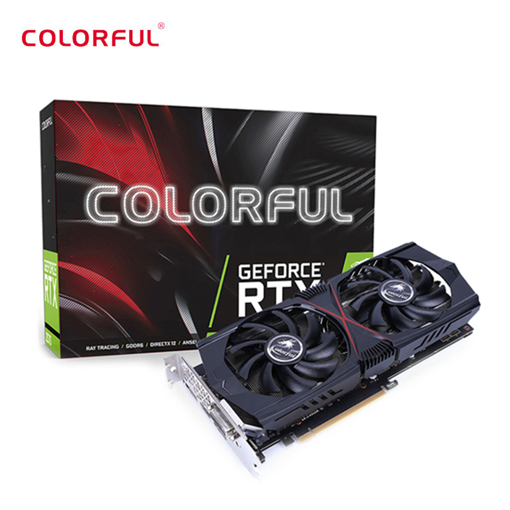 US $389 0 |Colorful GeForce RTX 2060 6G HA1V Nvidia Graphics Card 1365MHz  GDDR6 6G CUDA Cores 1920 DP / HDMI / DVI-in Graphics Cards from Computer &