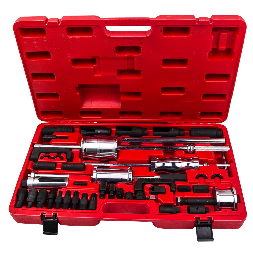 Complete Sets Auto Truck Diesel Injector Extractor Slide Hammer Puller Adaptor for Mercedes Audi BMW FOR DENSO DELPHI Extractor