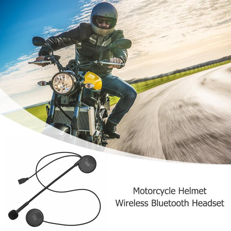 1 Set New Design Ultra-thin Motorcycle Helmet Wirless Bluetooth Headset Moto BT Earphone Helmet Speaker with Sponge Microphone