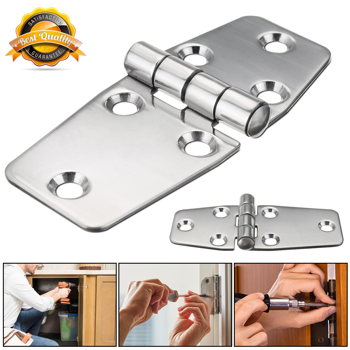 1 Pcs 38x97mm Flush Hinges 316 Stainless Steel Polished Silver for Boat Marine Door Compartment Door Hinges1 Pcs 38x97mm Flush Hinges 316 Stainless Steel Polished Silver for Boat Marine Door Compartment Door Hinges