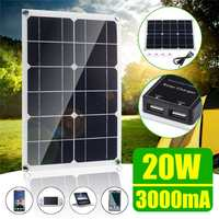 20W Solar Panel New 6V 3A Double USB Solar Cells Module Sun Power battery charger DIY 420*280*2.5mm for Cycling Climbing ect