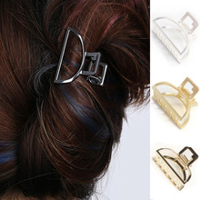 Women Hair Claw Simple Style Crab Retro Alloy Metal Half Moon Shape Clips Hairpin Solid High Quality Ladies New