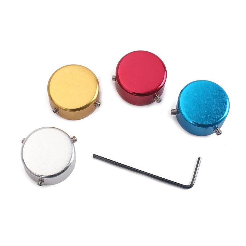 set of 4 electric guitar pedal covers effect pedal caps metal effect pedal switch knobs with. Black Bedroom Furniture Sets. Home Design Ideas