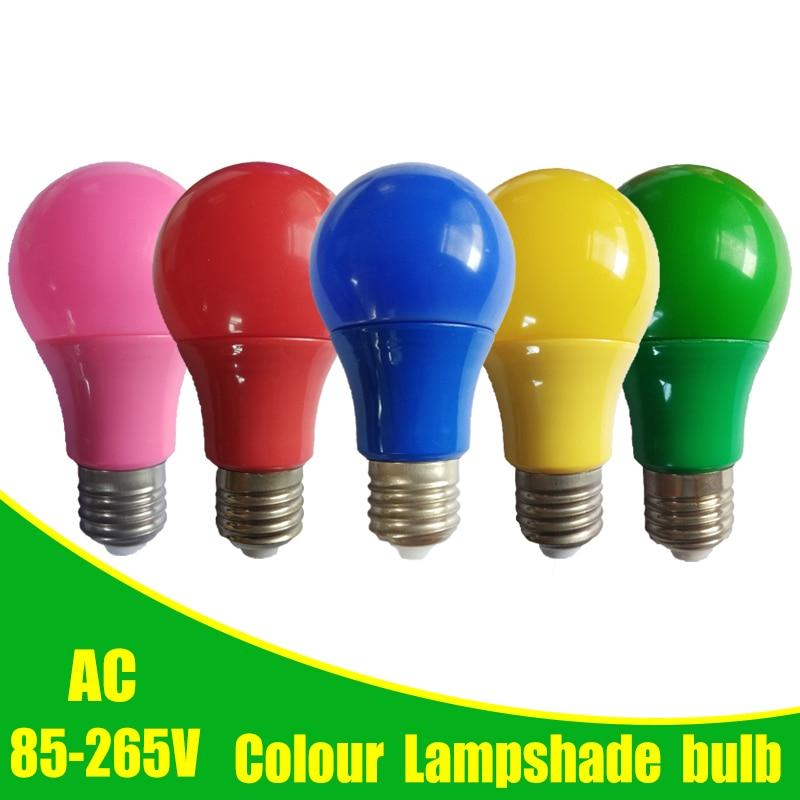 Colorful Globe Light Bulb Led Bar Light E27 5W 7W 9W Red Blue Green Yellow Pink Lampara Led Bombillas For Party Bar KTV Lighting