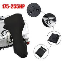 77inch 420D Black Boat Full Outboard Engine Cover For 175-225HP Hose Power Motor Waterproof