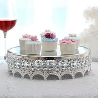 European Style Noble Circular Mirror Cake Stand Vertical Dessert Tray for Weddings Tea Parties Holiday Dinners Birthday Parties