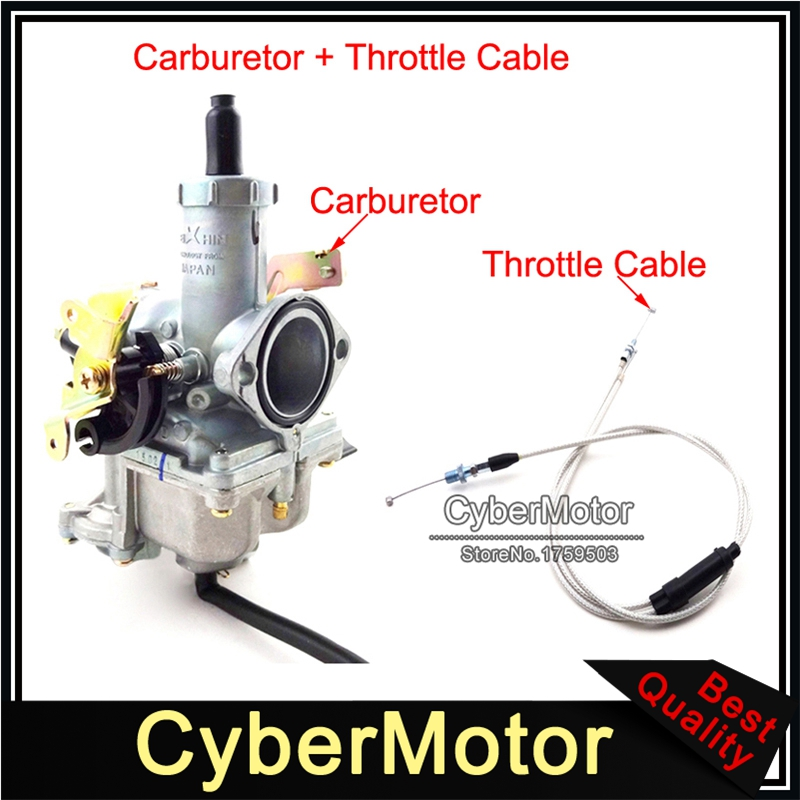 Keihin 30mm PZ30 Carburetor With Gas Throttle Cable For 200cc 250cc Pit Dirt Bike ATV Quad
