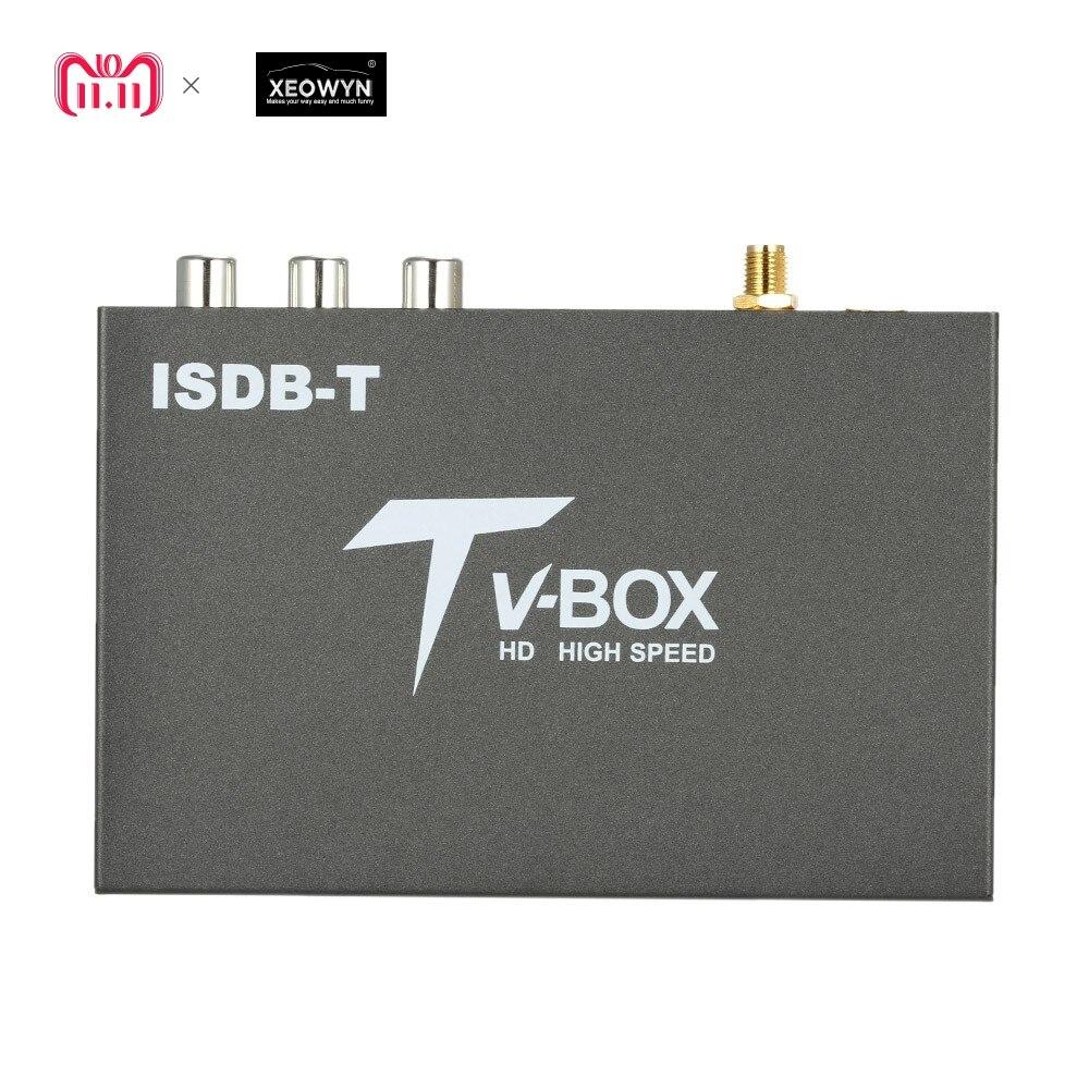 Antenne unique voiture TV numérique boîte HD ISDB récepteur Seg complet ISDB-T Mini récepteur de télévision numérique Mobile pour le japon brésil chili pérou