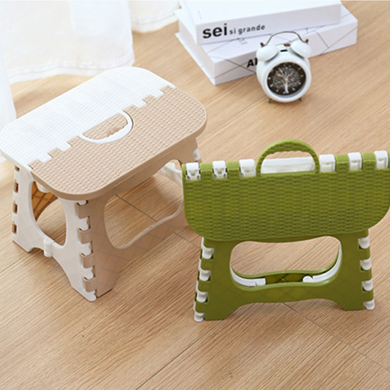 Plastic Folding Stool Thickening Chair Portable Home Furniture Children Convenient Dining Stool