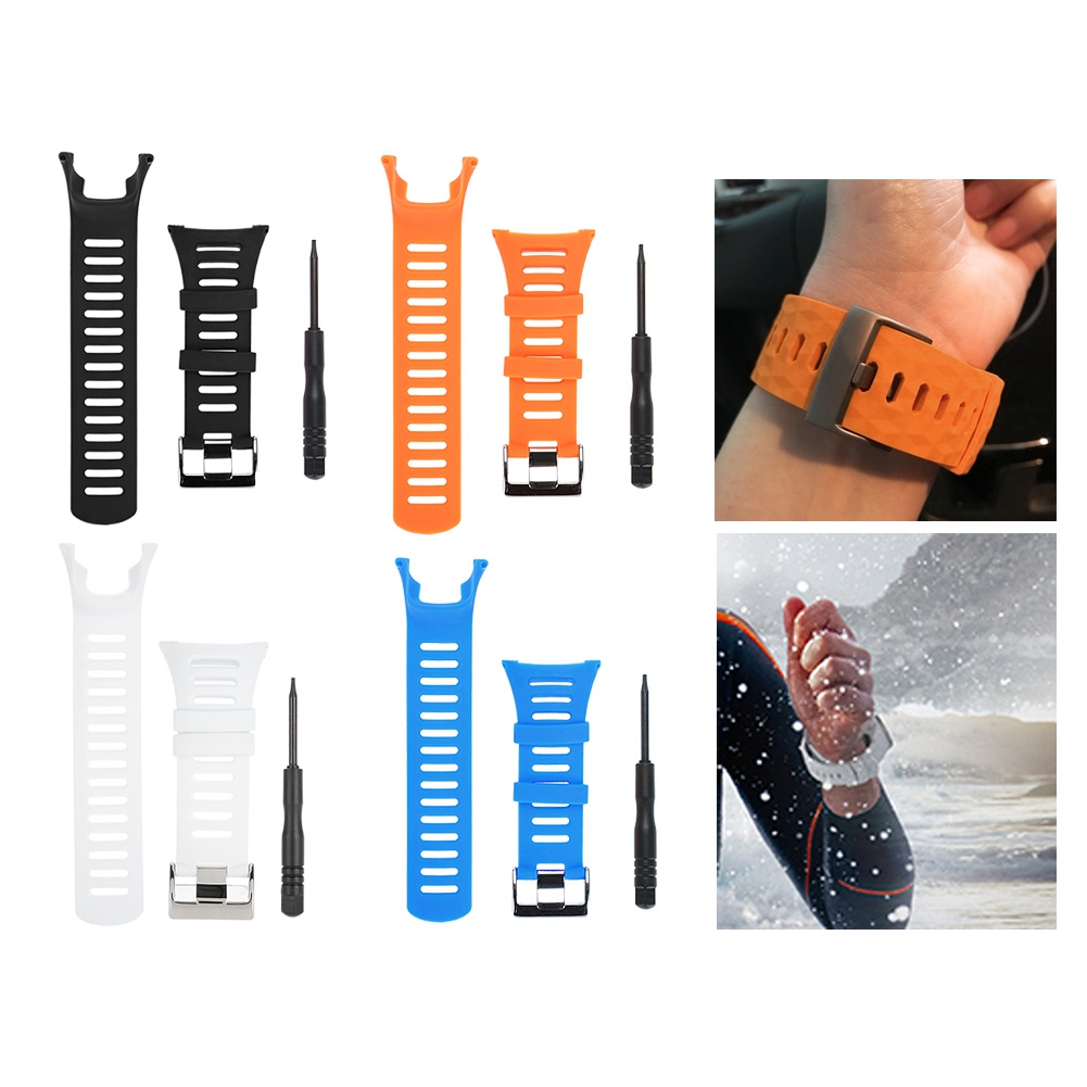 Watch Straps Rubber Pin Buckle Wrist Watch Straps Watch Bands for Suunto Ambit 1/2/3 Watch Band with Screwdriver Watch Accessory