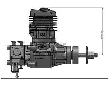 Modelli Di Aeroplani Di Metallo   DLE20RA 20cc Motore A GAS Per RC Aeroplano Ad Ala Fissa Modello Di Corsa Singola Due Di Scarico Vento Mani Fredde Iniziare Dopo Corsa