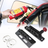 For Jeep For Wrangler JK TJ CJ Rubicon Adjustable Roll Bar Extinguisher Mount Holder Clamps Aluminum For Polaris RZR Ranger