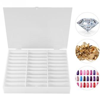 Manicure Durable Nail Art Box Nail Tips Storage Display Rhinestones Decoration Container Nail Art Tool фото