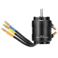 3660 4300KV Brushless Motor and 36 S Water Cooling Jacket Combo Set for 800 1000mm RC Boat Black