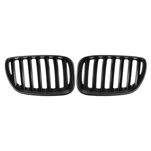 Image 2 - Par preto fosco chrome amortecedor dianteiro grille capa rim esporte grills grille para bmw x5 e53 2004 2006 estilo do carro