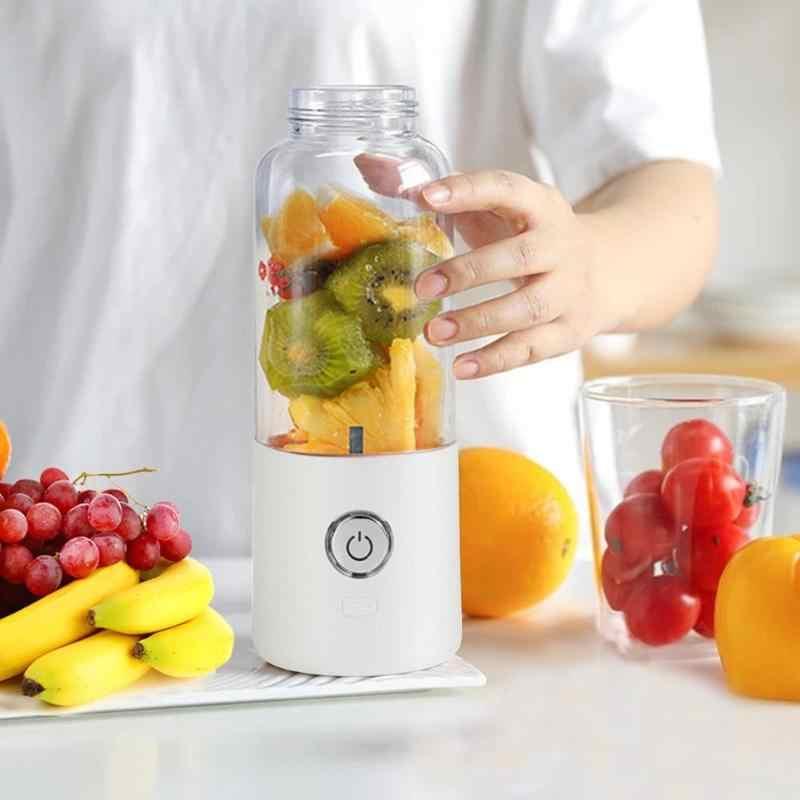 500 ml de Carregamento USB Misturador Liquidificador Juicer Máquina de Suco de Multi-função Portátil Fabricante De Frutas Vida Saudável Juicer Máquina Potável