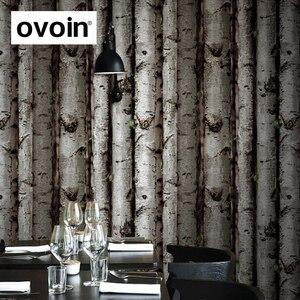 Image 1 - 3D Birke Wald Woods non woven Wand Papier Kinderzimmer Tapete Schlafzimmer Wandbekleidung