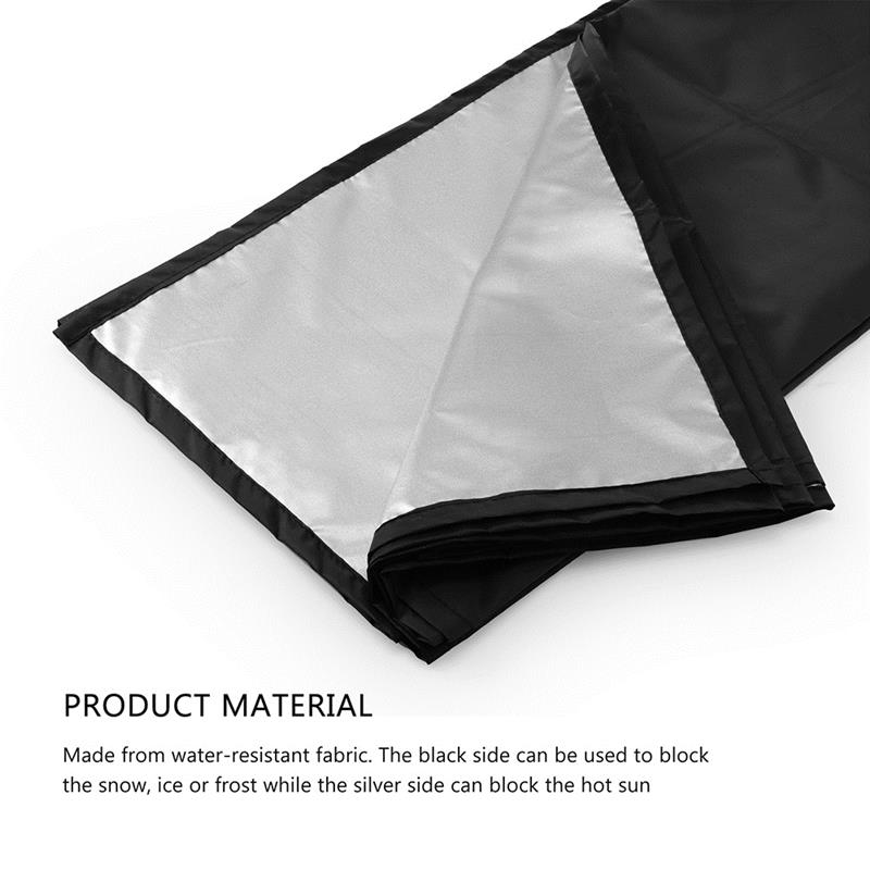 Image 3 - Car Exterior Accessories Windshield Snow Cover Sun Cover Auto Sunshade Tarp Magnetic Edges Remove Ice Frost Polyester Easily-in Windshield Sunshades from Automobiles & Motorcycles