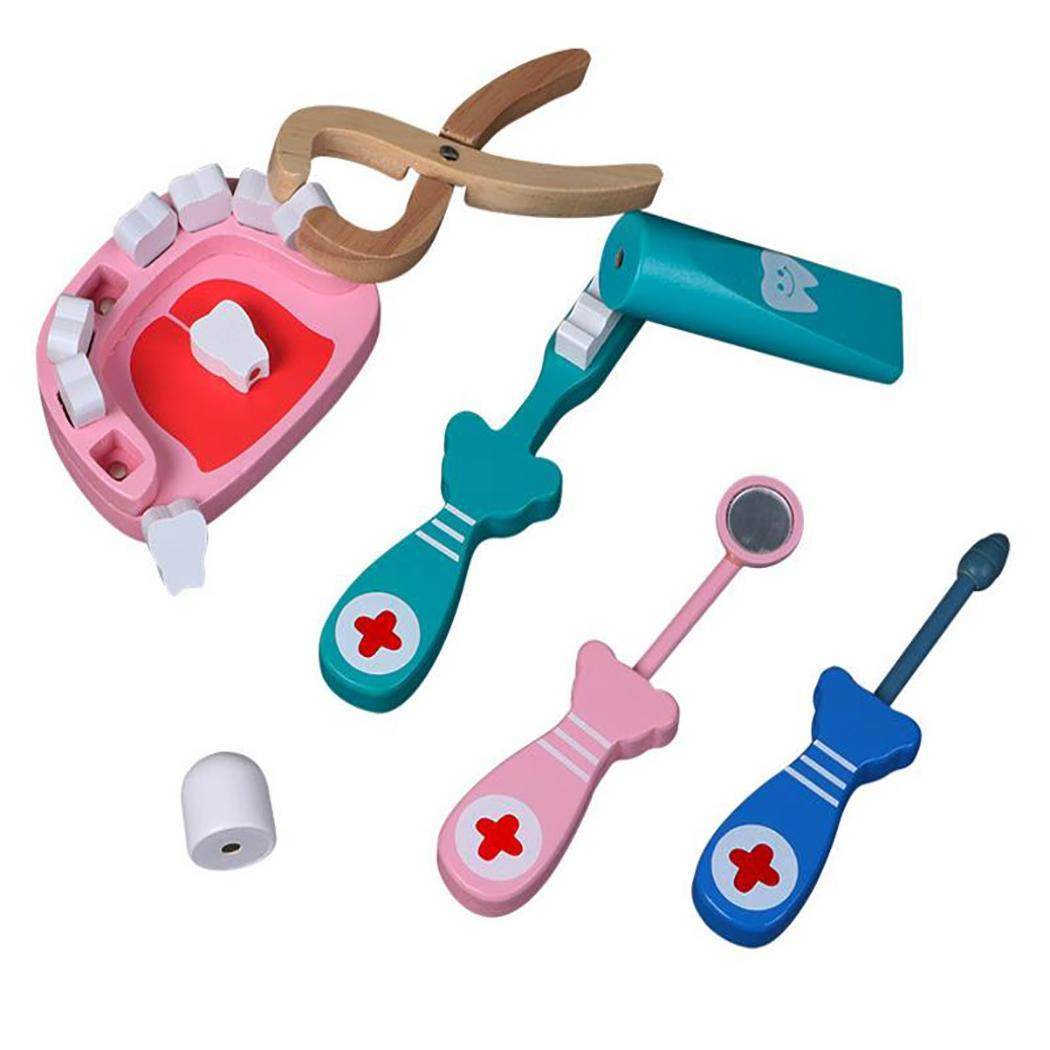 Cartoon Kids Medical Doctor Dentist Kit Doctor, Toy Toys Home, School, etc Kids 0-2 Years Old Vision Game