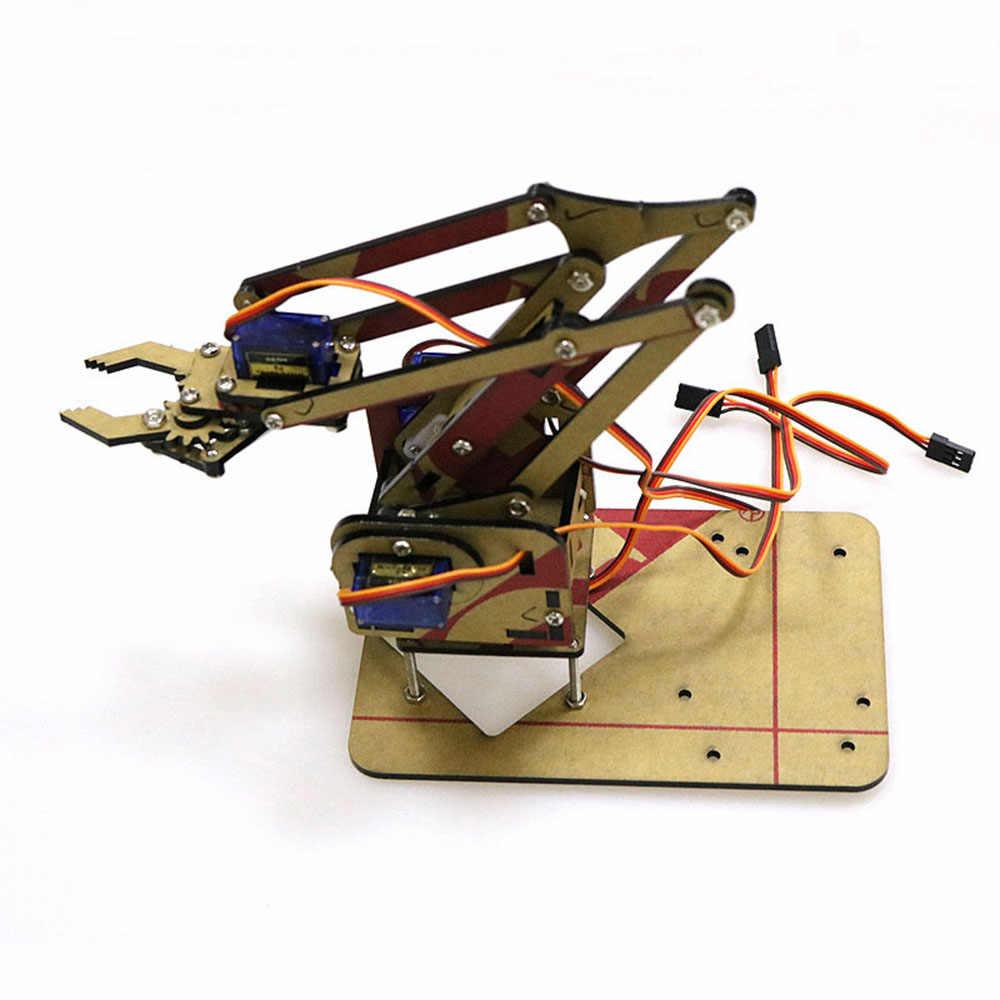 Доминбот DIY 4DOF для Arduino акрил RC робот захватное устройство учебный комплект с MG90S сервоприводы