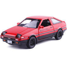 Initial D Model Cars Ae86 Toyota 1:28 Alloy Car Anime Cartoon Fast Furious With Pull Back Sound Light Collection Toys