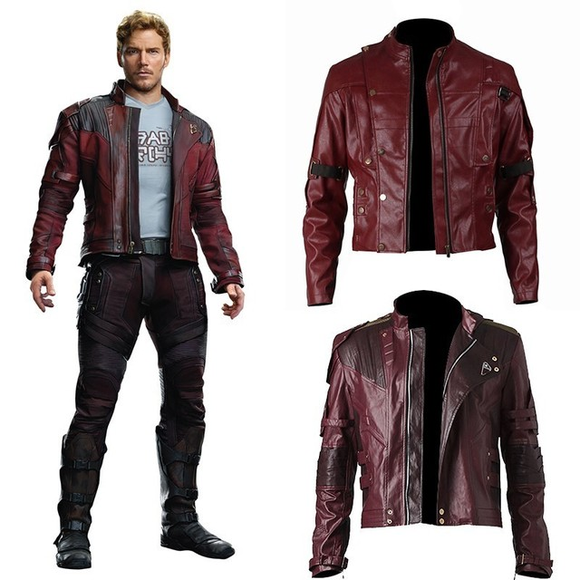 Guardians of The Galaxy Peter Quill Star-Lord Cosplay Costume Jacket Adult Men Halloween T-Shirt Leather Clothes Customized Made