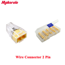30PCS 777 602 Push Wire Connector Universal Compact Quick Wiring Connectors 2 Pin Conductor Terminal Block with Lever wago