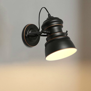 Industry Restaurant To Turn To Wall Lamp Originality Personality Café Bar The Barber Shop Bedroom Study Wrought Iron Wall Lamp