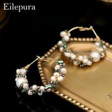 Eilepura Pearl Earring For Women Wedding Party Natural Stone Earrings Handmade Fresh Water Luxury Jewelry