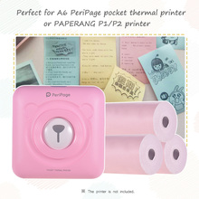 Термобумага рулон Билла Чековая фотобумага прозрачная печать для PeriPage A6/бумага ANG P1/P2 мини фотопринтер, 3 рулона