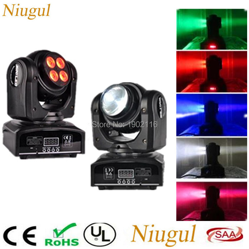 2pcs/lot 4*10W+10W Double Sides RGBW Spot Light /LED Moving Head Stage Effect Lights /DMX512 DJ Party Lighting Wash Beam Effect douk audio front panel radiating aluminum chassis power amplifie cabinet diy case black box