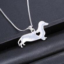 Ожерелья Чокеры серебристого цвета с изображением таксы и животных