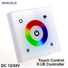 DC 12-24V Rgb Controller for Led Strip Rgb Led Controller Touch Switch 12v/24v 144w/288w led strip controller(China)