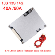 10S 13S 14S 36V 48V 40A 60A Lithium Battery Protection Board with Balance Li ion 3.7V BMS Cells for Electric Bicycle eBike UPS
