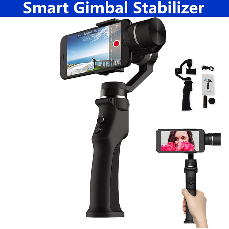 Brushless Smartphone Handheld Gimbal 3-Axis Stabilizer for iPhone 8 X For Xiaomi For Samsung Action Camera VS Zhiyun Smooth Q beyondsky eyemind smartphone handheld gimbal 3 axis stabilizer for iphone 8 x xiaomi samsung action camera vs zhiyun smooth q