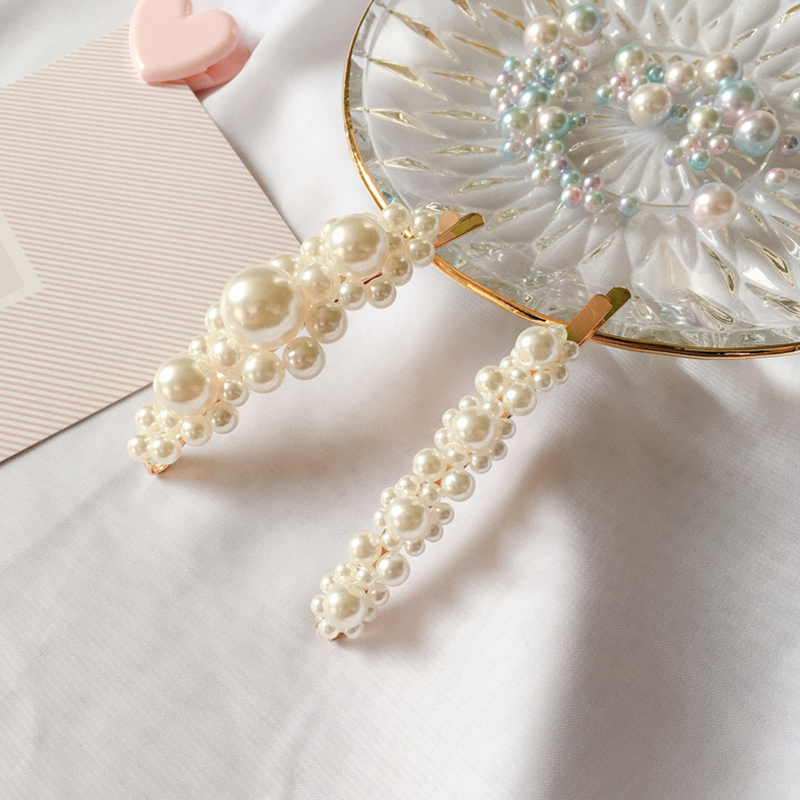 Fashion 1PC Exquisite Big Pearl Hair Clip Hair Accessories Girls Korean Elegant  Handcraft Pearl Women Hair Pin Barrettes