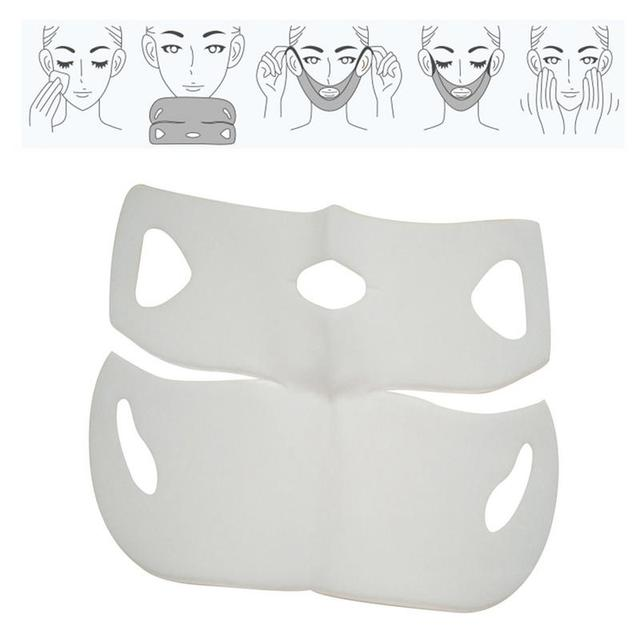 4D Double V Face Hanging Ear Face Paste Hydrogel Mask Lifting Firming Thin Masseter Double Chin Mask V Shape Face Care Slim Mask 5