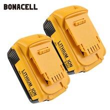 Bonacell 6000 mAh 18 V для Dewalt Мощность инструмент Батарея для DCB180 DCB181 DCB182 DCB201 DCB201-2 DCB200 DCB200-2 DCB204-2 L10