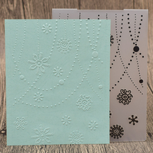 Snowflake Stamps Flowers Plastic Embossing Folder Template For Scrapbooking Photo Album Paper Card Background Decoration