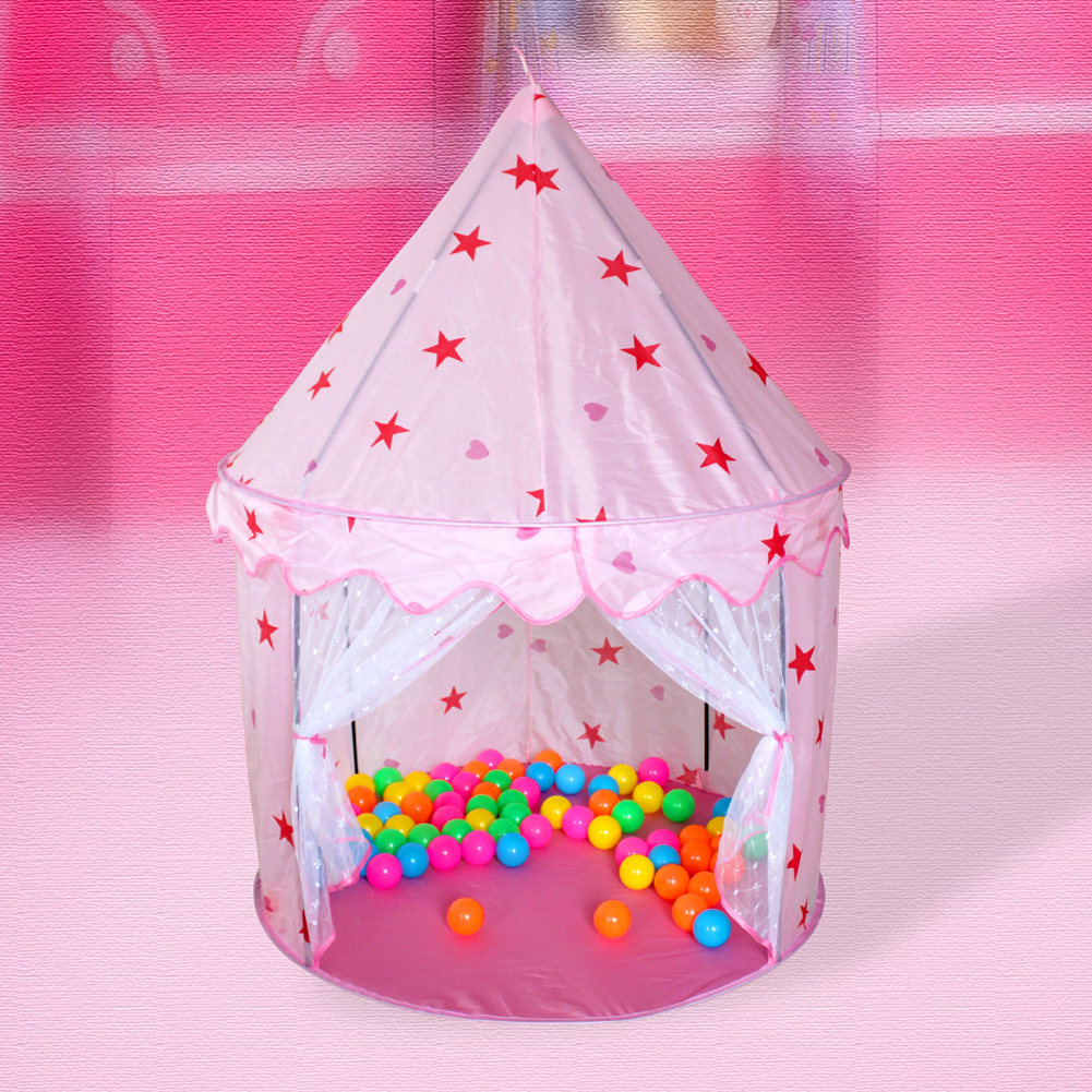 Kids Play Tent Portable Tunnel Ocean Ball Pool Pit Toy Tent Kid Outdoor Garden Funny Children Princess Castle Folding Play House cartoon play tent baby ball pool tent for kid tent children prince and princess role play house ocean ball toy tents castle
