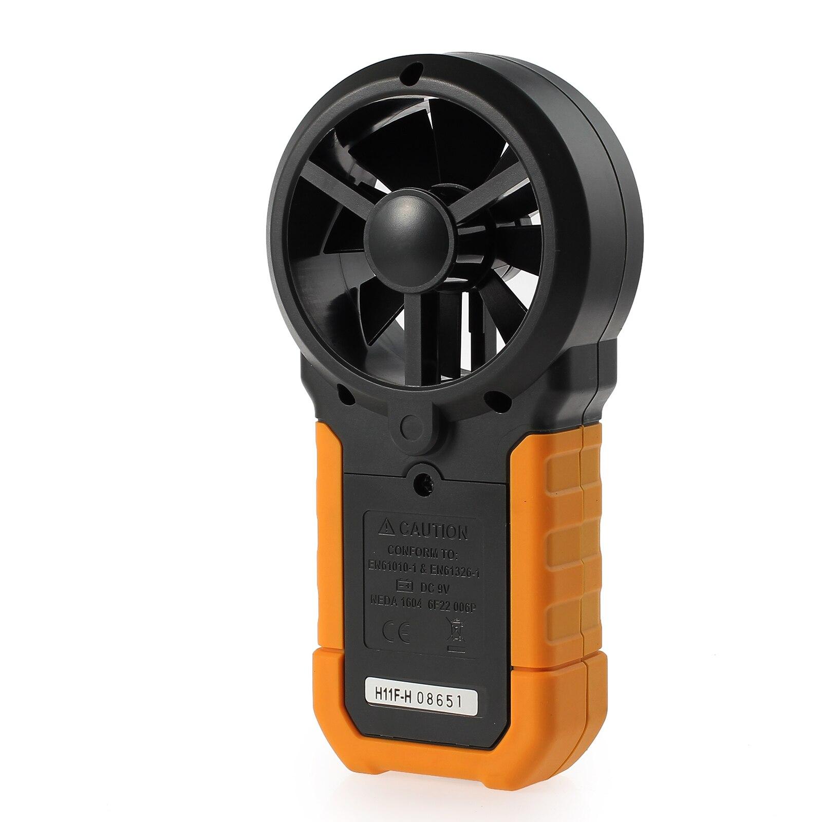 Appareil de contrôle numérique de compteur de vitesse de vent d'anémomètre de Neoteck avec l'affichage de contre-jour d'affichage à cristaux liquides 6252A multifonction Anémomètre numérique Testeur - 6