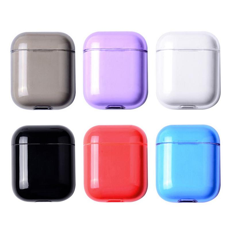 =Headphone Cover For Airpod Protective Cover Wireless Charging Bluetooth Headset For Apple Airpod Headset Set PC Hard Shell Case