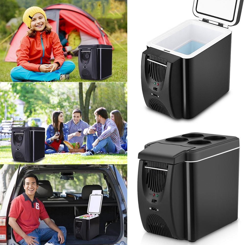 Mini 6L Car Warming Refrigerator Heat Fridge 12V Auto Freezer Portable Multi-Function Anti-Rotten Keep Cool Warm