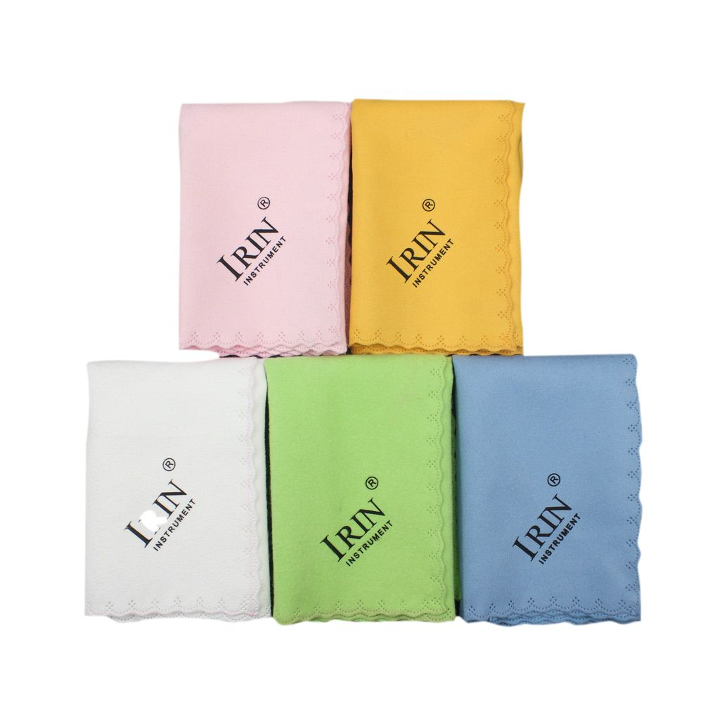 IRIN 5pcs Colorful Microfiber Clean Polish For Musical Instrument Guitar Violin Piano Clarinet Trumpet Cleaning Cloth For Sax