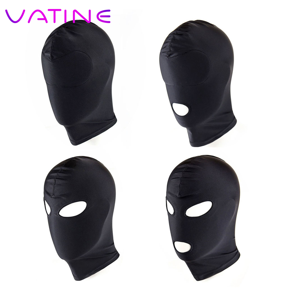 VATINE 1 Piece Sexy Head Mask Erotic <font><b>Toys</b></font> <font><b>Adult</b></font> <font><b>Games</b></font> <font><b>Sex</b></font> <font><b>Toys</b></font> <font><b>for</b></font> <font><b>Couple</b></font> SM Bondage <font><b>Sex</b></font> Headgear Restraint Hood Mask Slave image